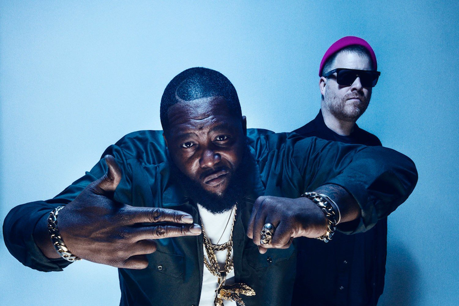 Run The Jewels have released a lyric video for their Pharrell Williams and Zack de la Rocha collab, 'JU$T'