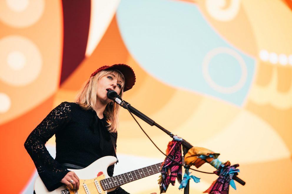 The Joy Formidable thrash in the rain at Reading Festival