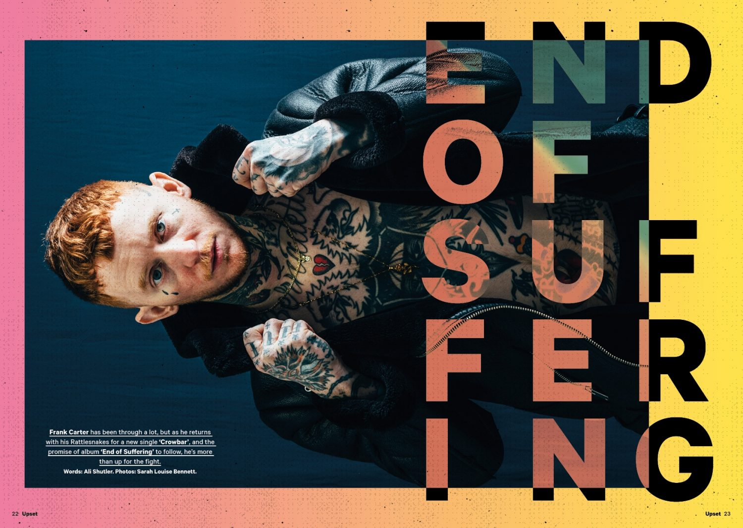 The new issue of Upset is out now, featuring Frank Carter & The Rattlesnakes!