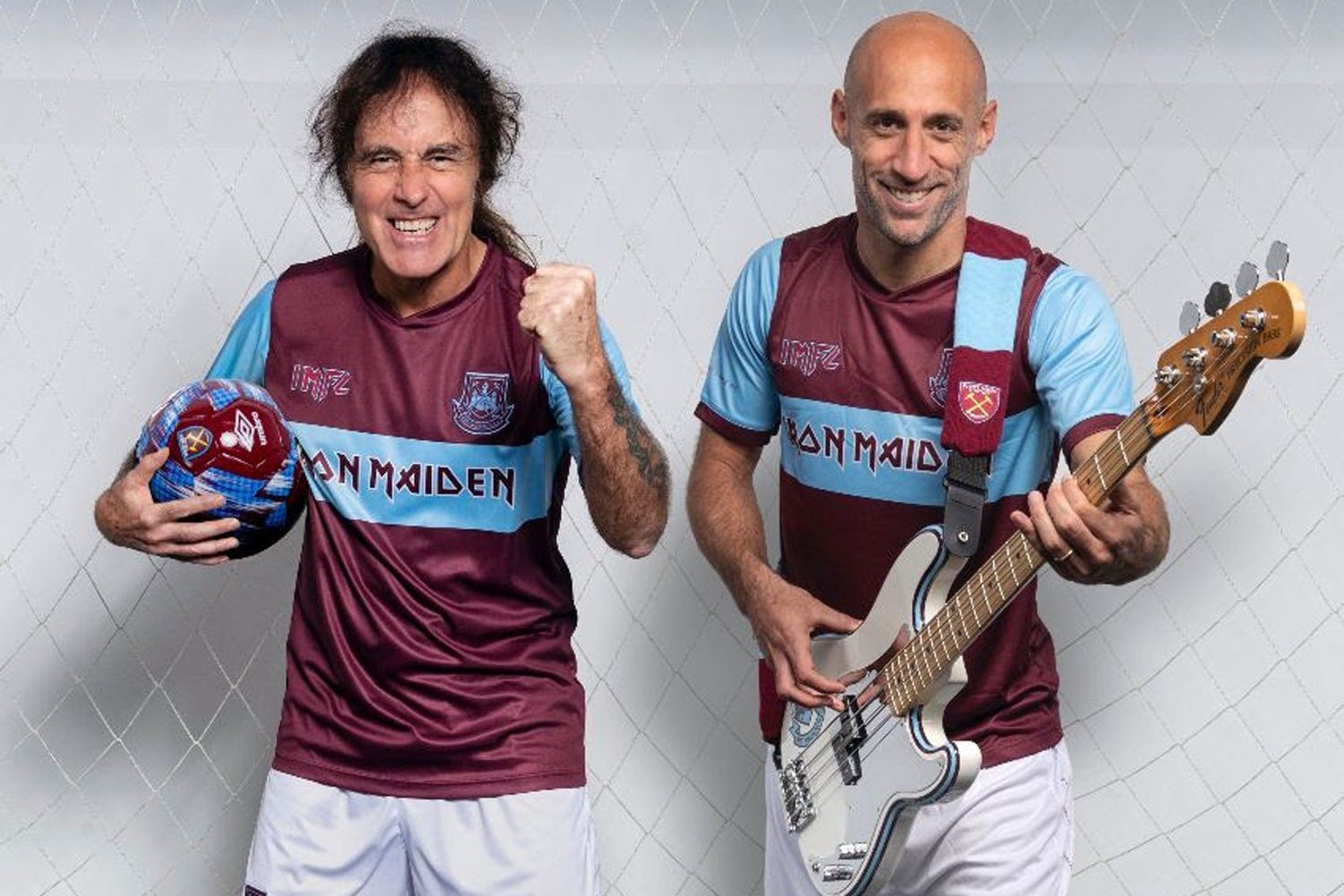 Iron Maiden have teamed up with West Ham United for a new kit