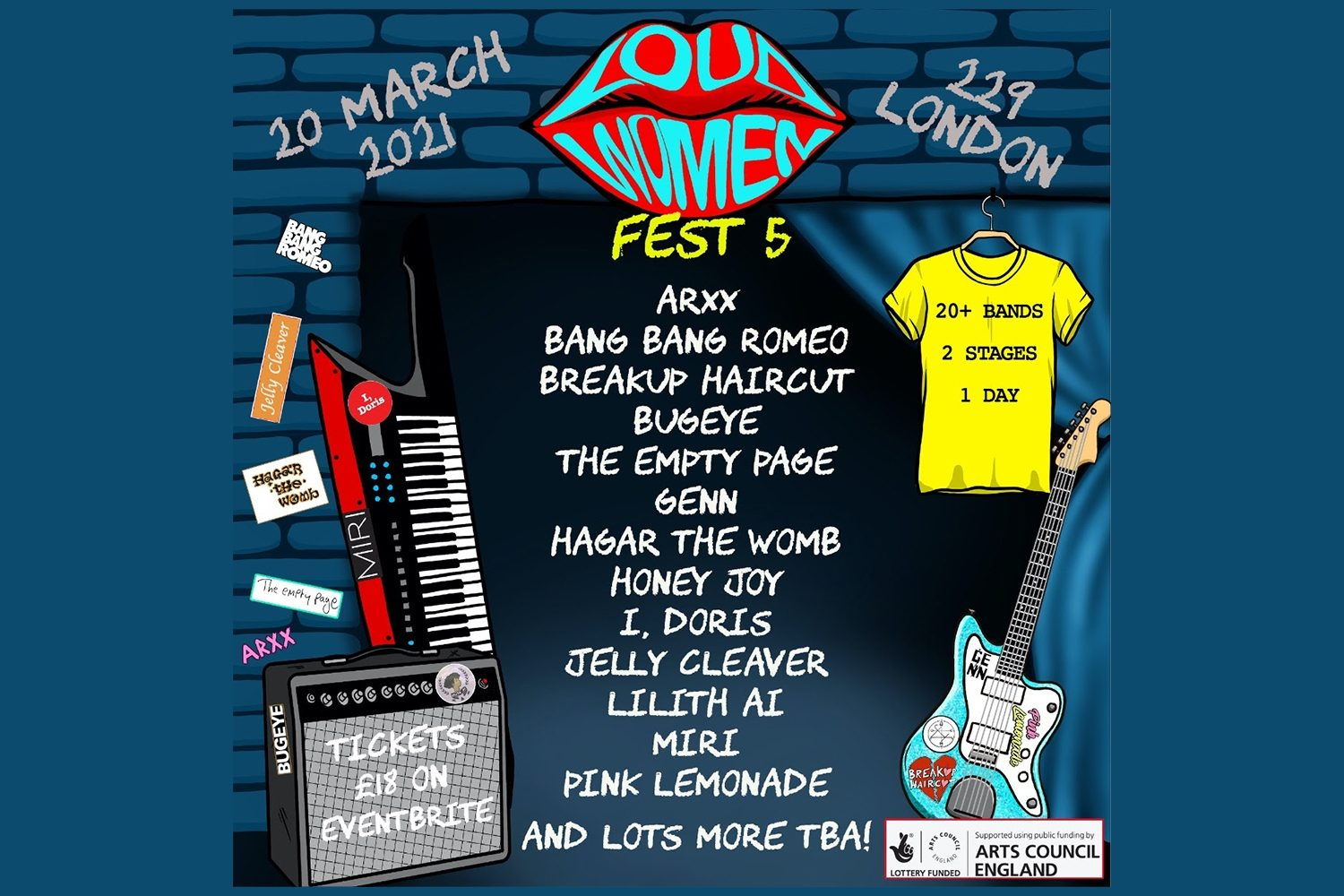 Loud Women Fest 5 has announced a load more acts for next year's event