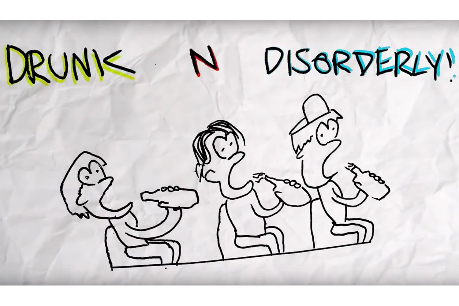 The Chats have released a new animated video for 'Drunk N Disorderly'