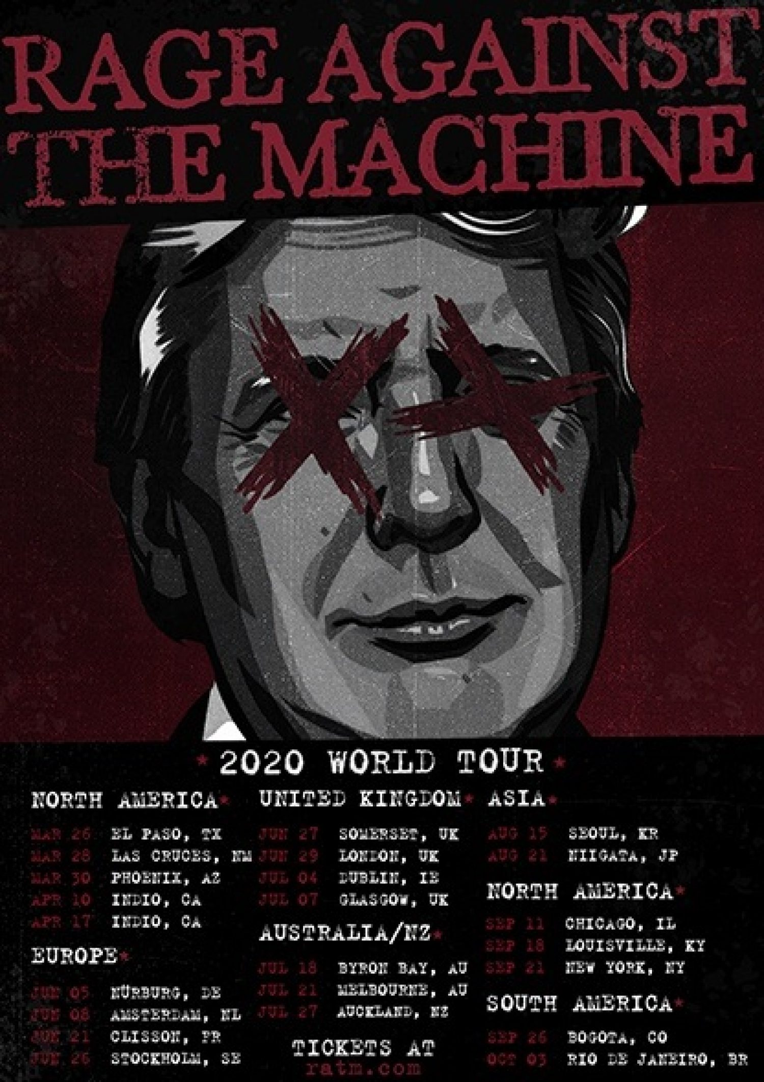 A bunch of Rage Against the Machine tour dates might have just leaked...